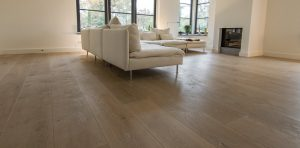 Gerookte houten vloer
