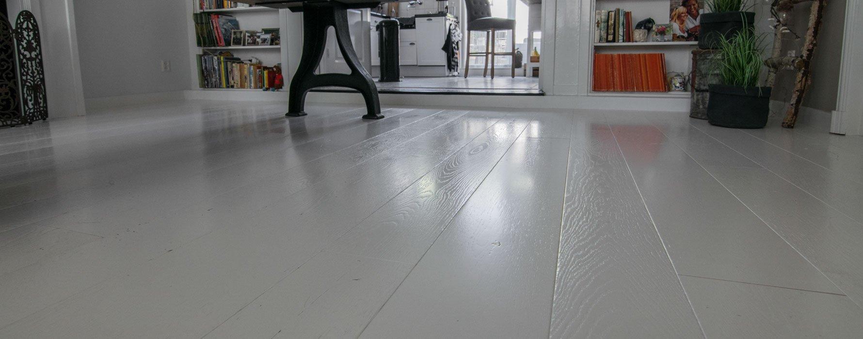 Spierwitte eiken houten vloer