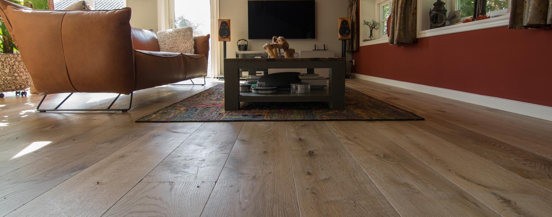 Verouderde houten vloer