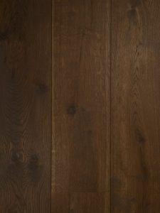 Bruine gerookte houten vloer van Europees eiken