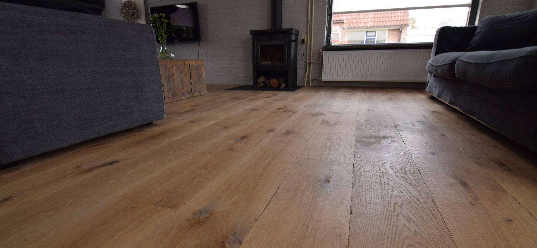 Eiken houten Castle grey vloer