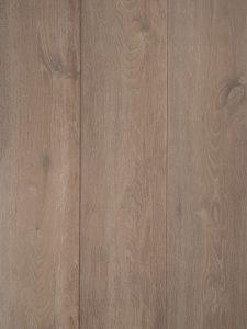 Donker gerookte witte houten vloer