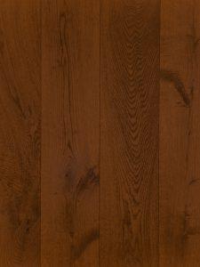 Mooie kastanje bruine houten vloer van Europees eiken