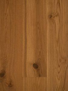 Deze lamelparket vloer is geborsteld en geolied.
