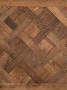 Deze Versailles vloer is gemaakt van 200 jaar oud eikenhout.
