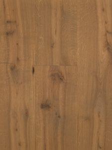 Deze eiken vloer is geschuurd en met een grijze kleur geolied