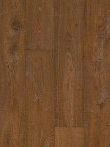 Deze houten vloer heeft door het borstelen een zichtbare nerftekening