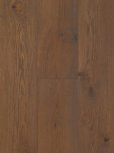 Deze lamelparket vloer is grijs geolied en geschuurd