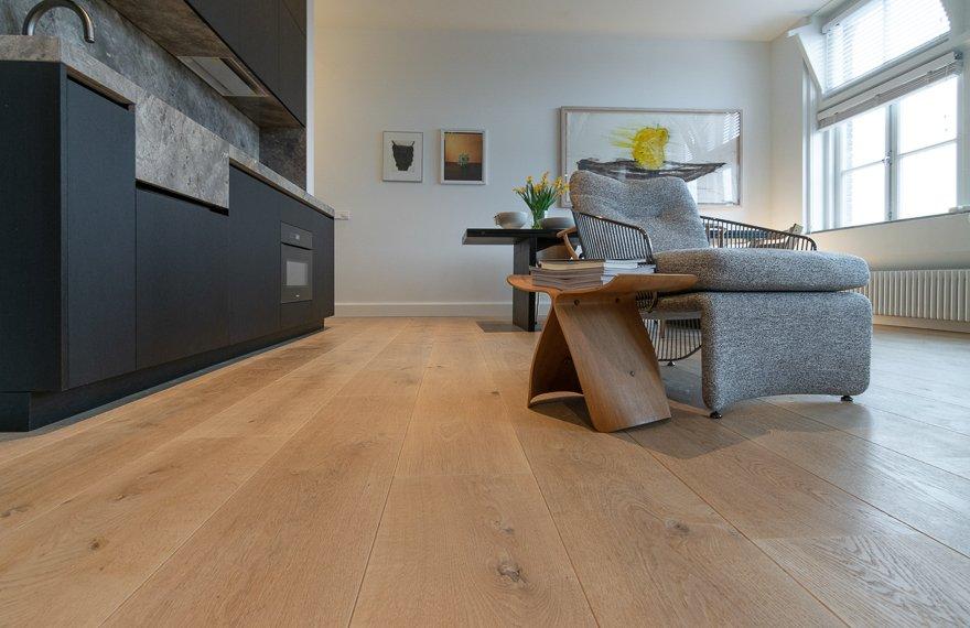 Naturel eiken houten vloeren
