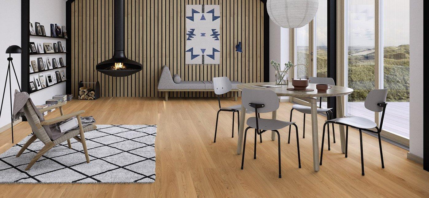Rustige houten vloer