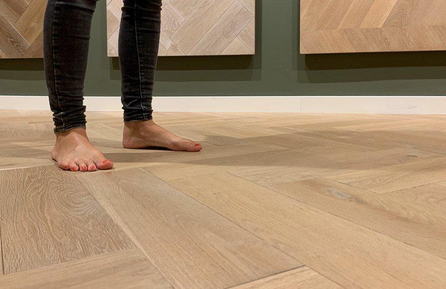 Vloerverwarming houten vloer Drachten