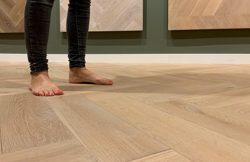 Vloerverwarming houten vloeren Loppersum