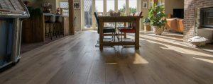 Verouderde eiken houten vloeren