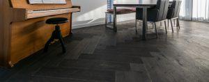 Donkere duoplank visgraat vloeren