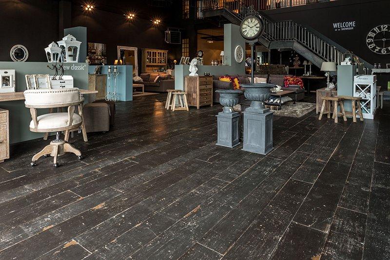 Retro houten vloeren