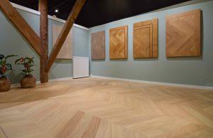Showroom kamer houten vloeren