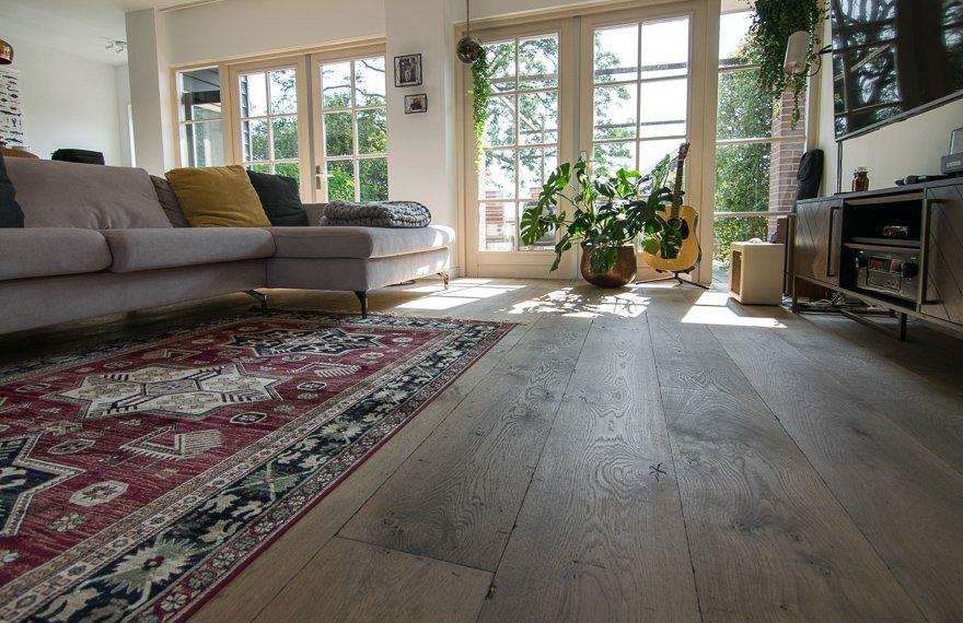 Gebeitste houten vloeren