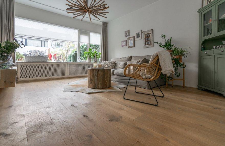 Machinaal geoliede houten vloeren