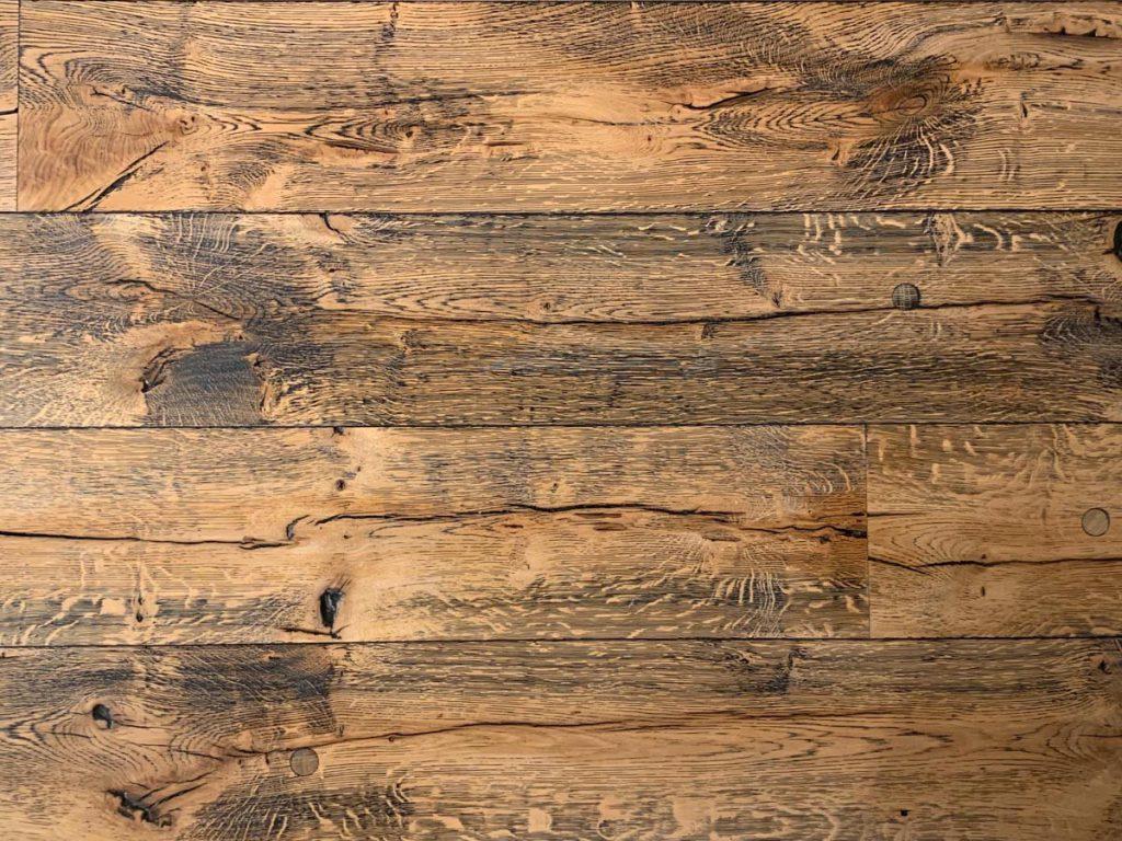 Oude eiken houten vloer