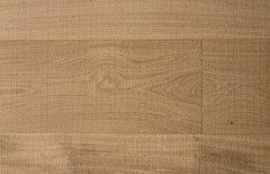 Blanke eiken bezaagde houten vloer