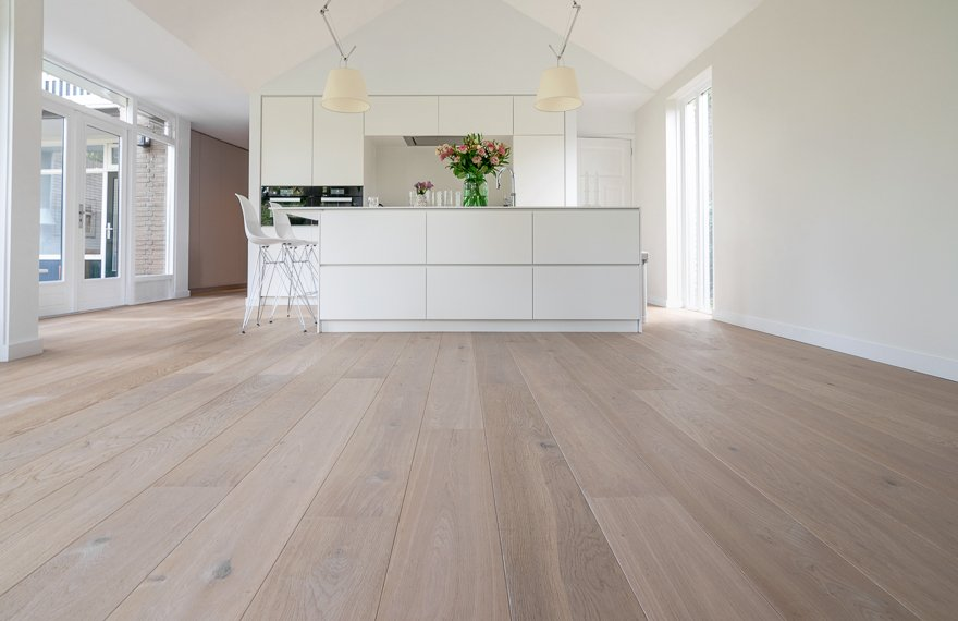 Eiken vloer in keuken