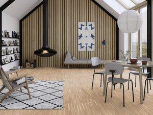 Hoogkant parket houten vloer