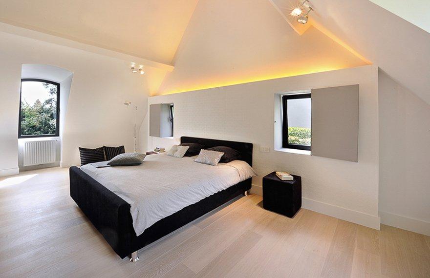 Lichte vloer in slaapkamer