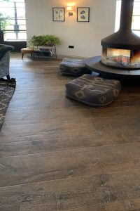 Oude plankenvloer