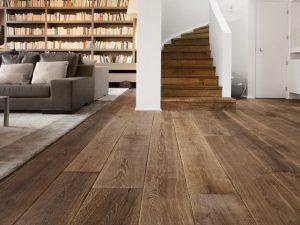 Unieke verouderde houten vloer