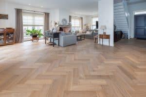 Visgraat vloer in Noordwijkerhout