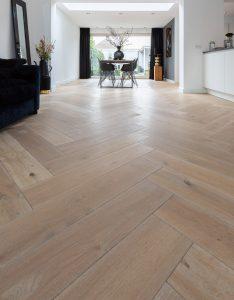 Visgraat vloer met ruimtelijk effect
