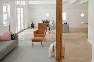 Witte visgraat vloer modern