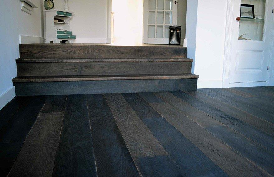 Zwarte vloer