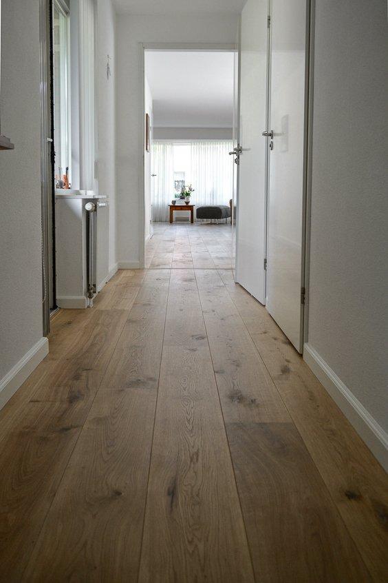 Naturel rustieke houten vloer