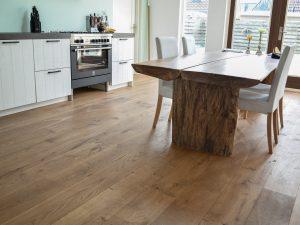 Naturel verouderde houten vloer