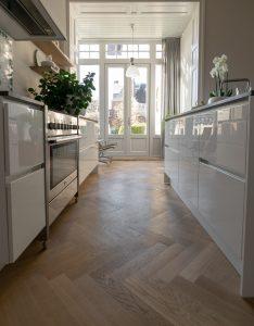 Tapis visgraat Leeuwarden in keuken