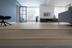 Witte vloer strak interieur
