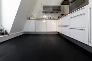 Zwarte duoplank vloer