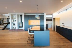 Houten vloer keuken Zuid-Afrika