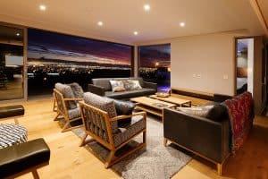Houten vloer woonkamer Zuid-Afrika
