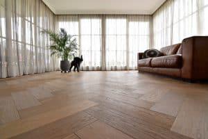 Visgraat vloer Franeker vloerverwarming