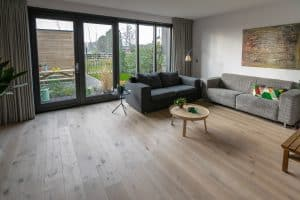 Vloer van hout in Meerstad