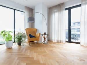 Dubbele visgraat vloer Leeuwarden