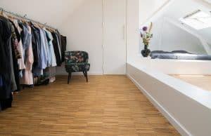 Exclusieve slaapkamer vloer hoogkant
