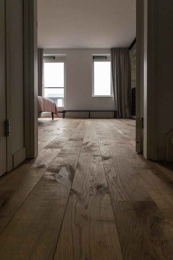 Houten vloer slaapkamer castle grey