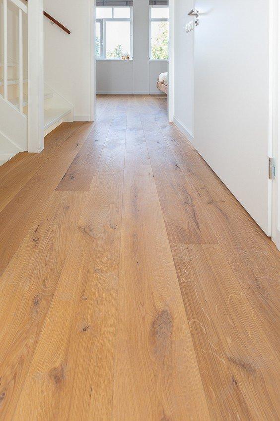 Houten vloer slaapkamer naturel