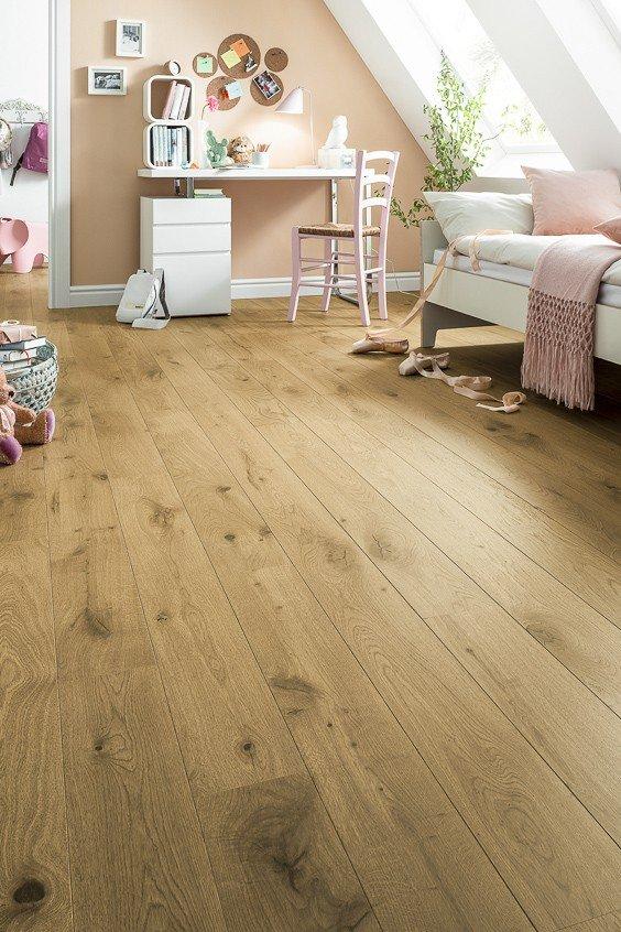Houten vloer slaapkamer natuurlijk