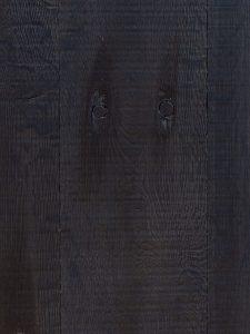 Zwarte vloer van oud eikenhout