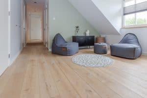 Plankenvloer boven etage