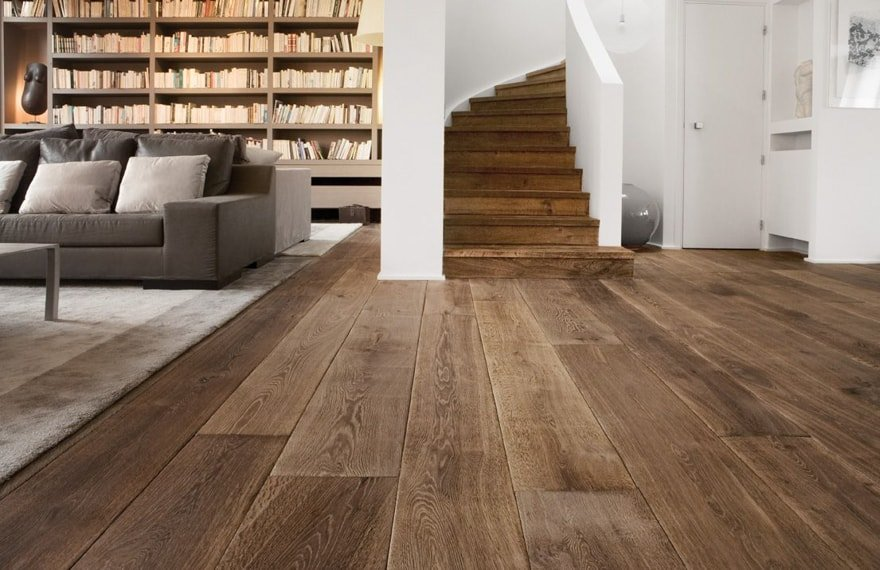 wisselende breedtes houten vloer
